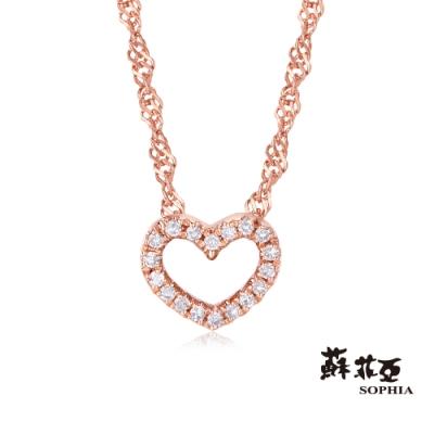 蘇菲亞 SOPHIA - 滿分愛戀玫瑰金14K鑽鍊