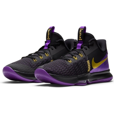 NIKE 籃球鞋 明星款 緩震 包覆 運動鞋 男鞋 黑紫 CQ9381001 LEBRON WITNESS V EP