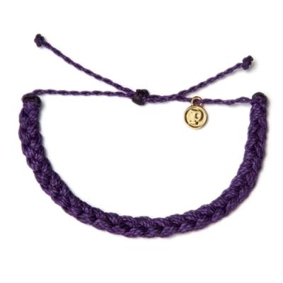 Pura Vida 美國手工 BRAIDED 深紫色粗線編織手環