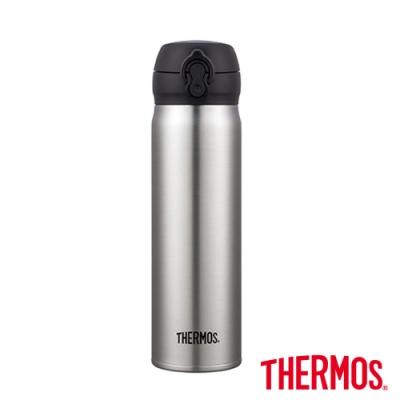 THERMOS膳魔師 超輕量彈蓋不鏽鋼真空保溫瓶0.6L(JNL-602-SBK)