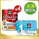 桂格寶寶精選5件組(三益菌成長奶粉825g*4+優護成長配8入/盒)