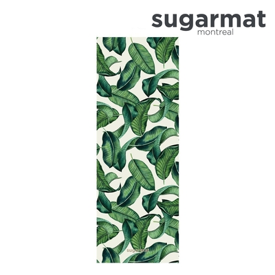 加拿大Sugarmat 麂皮絨天然橡膠加寬瑜珈墊(3.0mm) 熱帶雨林 Tropical Leaf