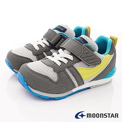 日本月星頂級童鞋 HI系列2E機能款 TW121S27灰綠(中小童段)