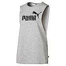 PUMA-女性基本系列經典休閒背心-淺麻花灰-歐規