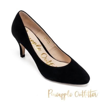 Pineapple Outfitter 基本款氣質尖頭高跟鞋-絨黑色