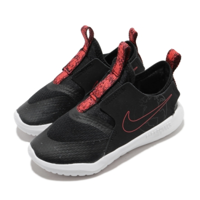 Nike 慢跑鞋 Flex Runner SE 童鞋 襪套 輕量 透氣 舒適 小童 穿搭 黑 紅 CZ6540001