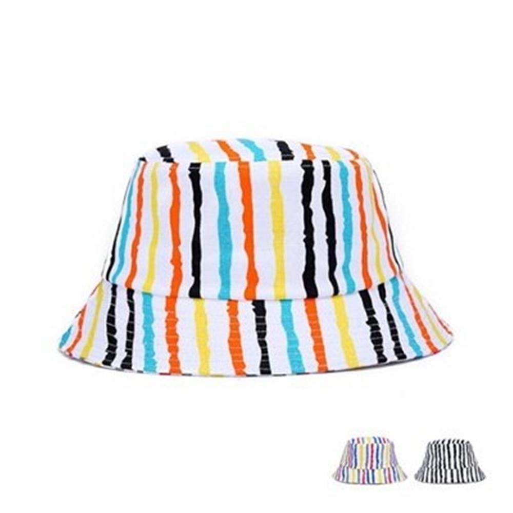 米蘭精品 遮陽防曬條紋漁夫帽-休閒旅遊摺疊情人節生日禮物男女帽子3色73db13