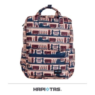 【HAPI+TAS】摺疊手提後背包─米色倫敦風情