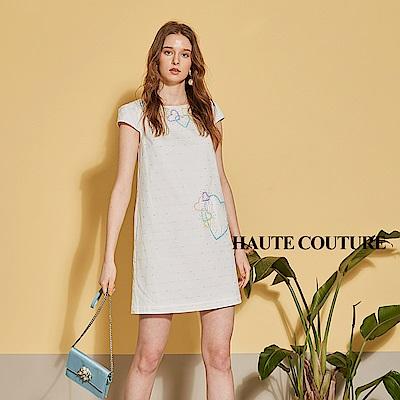 Haute Couture 高定系 精緻3D愛心手工鑲飾禮服洋裝-燕麥杏