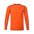 The North Face北面男款橙色吸濕排汗長袖T恤|3RGGL4B