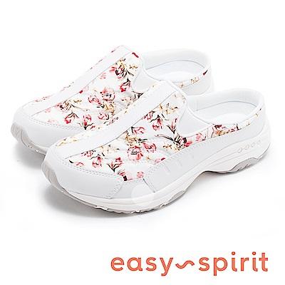 Easy Spirit TRAVELTIME362 花季舒適休閒拖鞋-白色