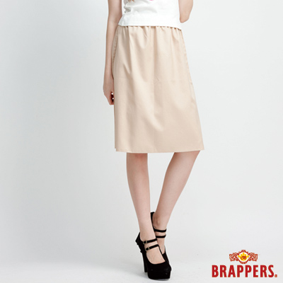 BRAPPERS 女款 女用中低腰兩片裙-卡其