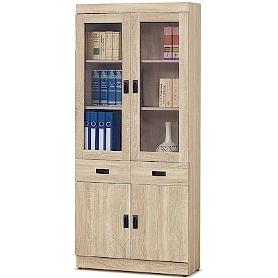 凱曼  卡麥隆原切橡木2.6尺中抽書櫥 /書櫃