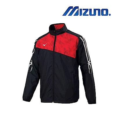 Mizuno 美津濃 男風衣外套 黑紅 32TE859296