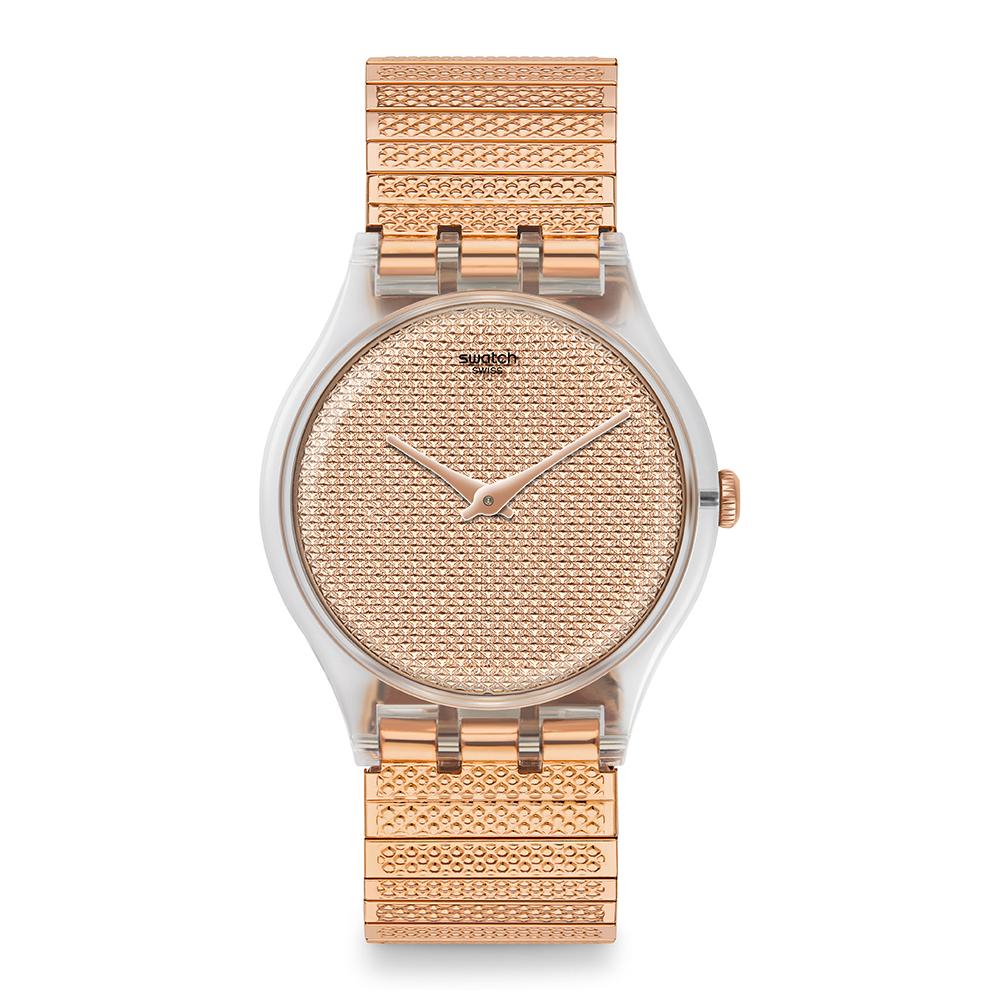 Swatch Deep Wonder系列 POUDREUSE S木質巧思手錶