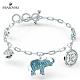 施華洛世奇 Elephant 白金色漸層大象手鏈 product thumbnail 1