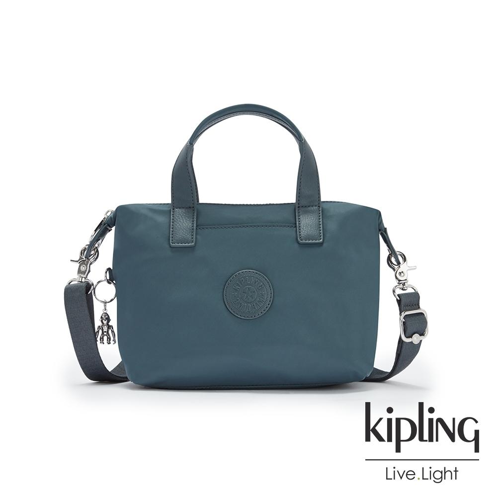 Kipling 山林湖茵綠簡約手提肩背托特包-KALA COMPACT