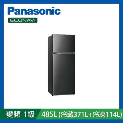 [館長推薦]Panasonic國際牌 485L 雙門 變頻 電冰箱  NR-B481TV-K 晶漾黑