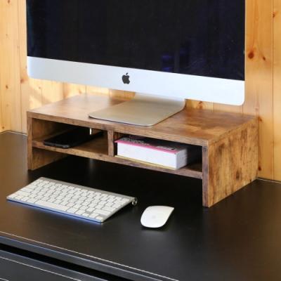BuyJM低甲醛防潑水復古紋雙層螢幕架/桌上架54x24x16.3公分