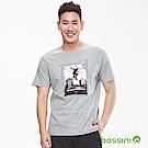 bossini男裝-印花短袖T恤20淺灰