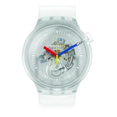 Swatch Big Bold系列手錶 JELLYFISH 穿透白-47mm