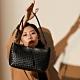 【金安德森】Weave 細緻編織流蘇2Way肩背包-黑色 product thumbnail 2