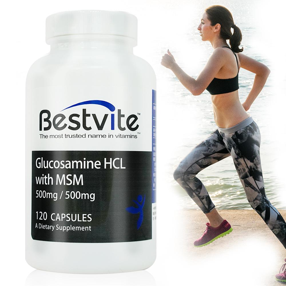 美國BestVite必賜力葡萄糖胺+MSM膠囊1瓶 (120顆)