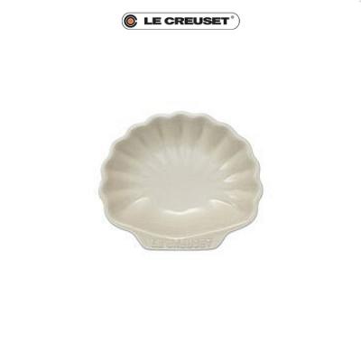 [任4件6折] LE CREUSET 瓷器貝殼盤(小)(蛋白霜)