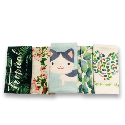 【 Poesia 】北歐簡約純棉麻桌墊/隔熱墊 (厚款單面)  - 4入