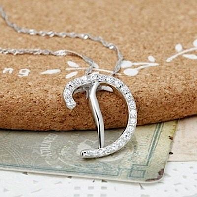 米蘭精品 925純銀項鍊-時尚簡約D英文字母