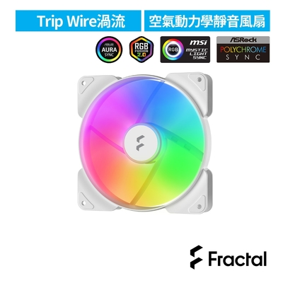 【Fractal Design】Aspect RGB 14cm 散熱風扇-白