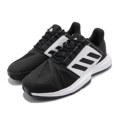 adidas 網球鞋 CourtJam Bounce 男鞋 愛迪達 避震 支撐 包覆 運動 球鞋 黑 白 FX1497