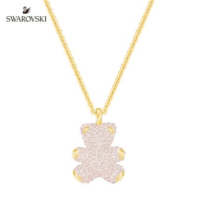 施華洛世奇 Teddy 3D 可愛迷人粉紅色泰迪項鏈
