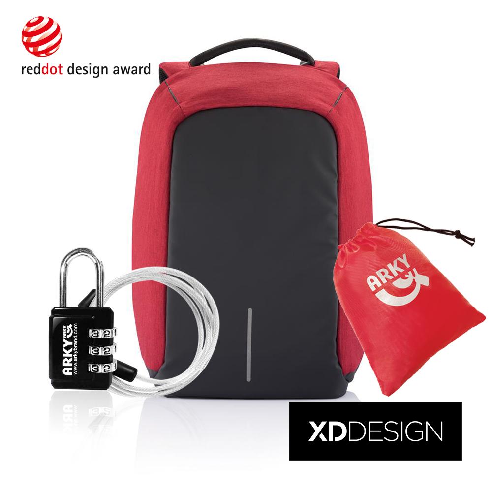 XDDESIGN 終極安全防盜後背包-紅色限量款 大全配組合(桃品國際公司貨)