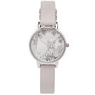 OLIVIA BURTON 北極狐的水晶魔力款手錶(OB16SG05)-銀面/30mm