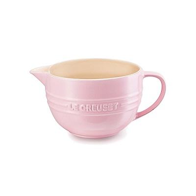 LE CREUSET 瓷器奶油攪拌杯 (雪紡粉)