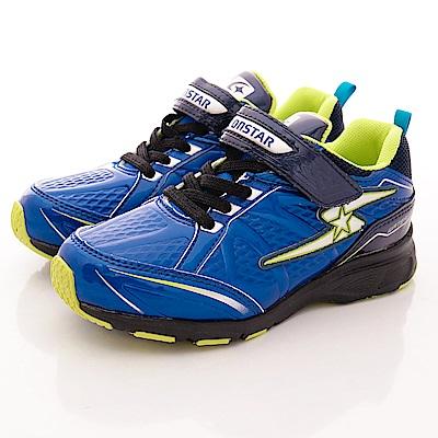 日本月星頂級競速童鞋 防潑水止滑系列 SE485藍(中大童段)