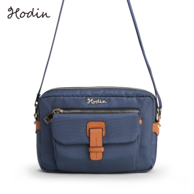 【Hodin】Daily休閒帆布斜背包(藍色153025BR)