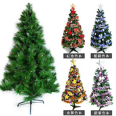 摩達客  6尺特級綠松針葉聖誕樹+飾品組(不含燈)