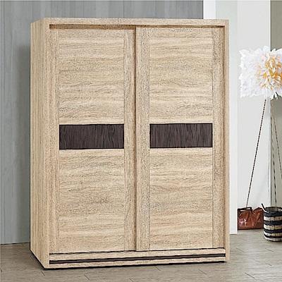 綠活居 愛利斯5.1尺推門衣櫃(吊桿+穿衣鏡+內開放層格)-152x60x197cm-免組