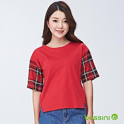 bossini女裝-圓領短袖上衣06暗紅