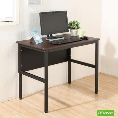 《DFhouse》頂楓90公分電腦辦公桌-胡桃色 90*60*76