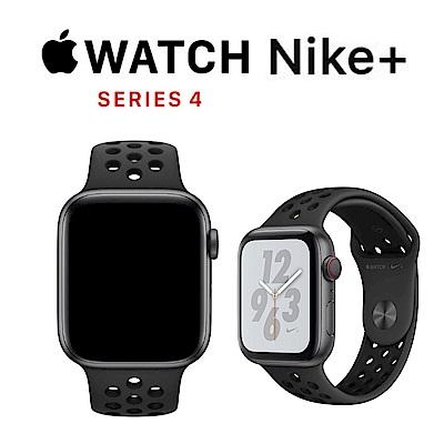 Apple Nike+ S4 GPS+網路 44mm 太空灰鋁金屬錶殼搭黑色運動型錶帶