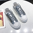 韓國KW美鞋館 韓流活力玩色厚底小白鞋 銀