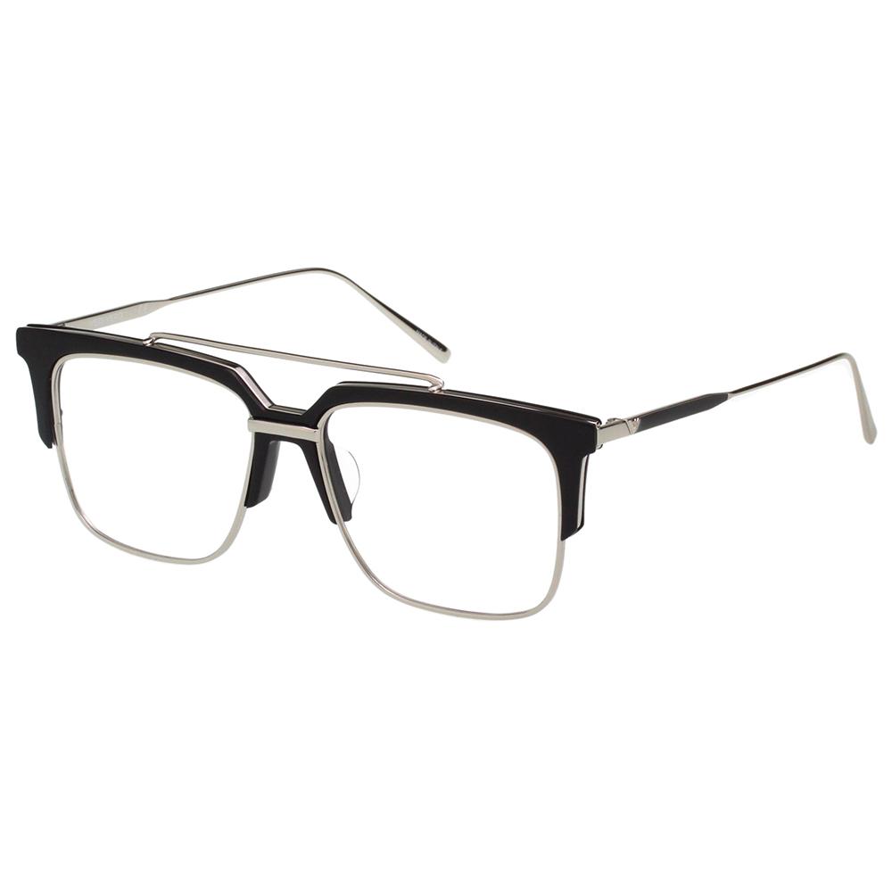 VEDI VERO 復古文藝感 光學眼鏡 (黑配銀)