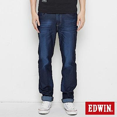 EDWIN JERSEYS 迦績寬直筒褲-男-原藍磨