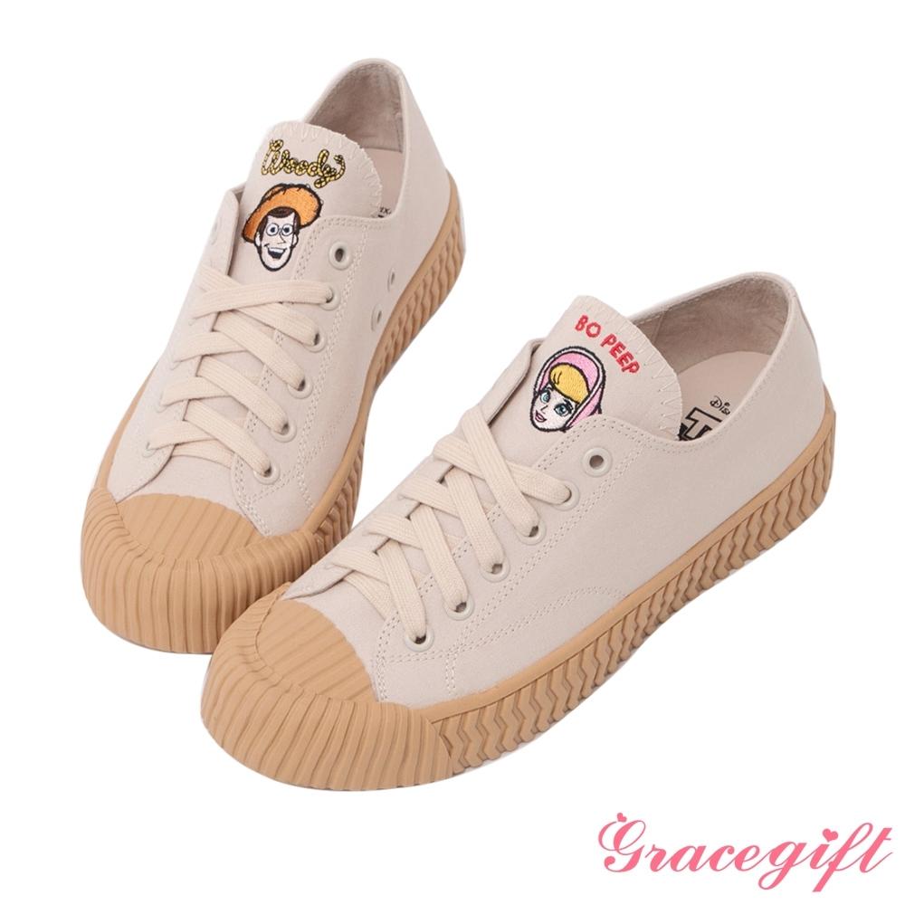 Disney collection by gracegift-玩總胡迪帆布餅乾鞋 米白