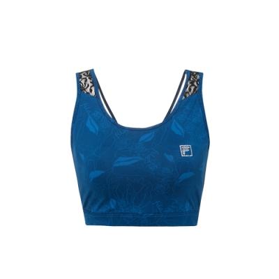FILA 女萊卡吸濕排汗單穿背心-藍色 5TKV-1600-BU