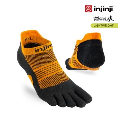 【INJINJI】RUN女輕量吸排五趾隱形襪 [橘色]