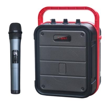 大聲公樂利型無線式多功能行動音箱/喇叭 (單手持麥克風組)